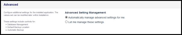 advanced settings for wordpress installation