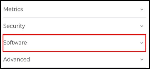 software options via hosting manager