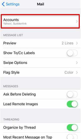 setting up iOS devices to check your email step 3