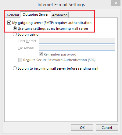 setting up outlook 2013 to check email step 7