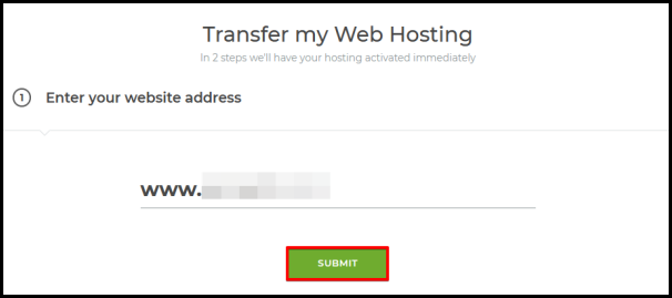 step 1 to transfer website